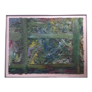 Mid-Century Textured Abstract Painting