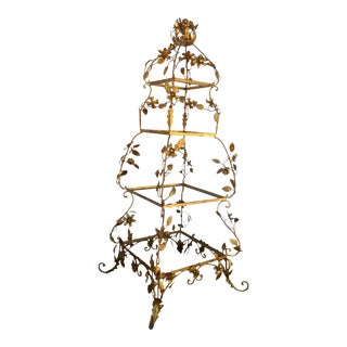 Hollywood Regency Style Gold Gilt Etagere
