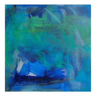 """Blue"" Small Abstract by Trixie Pitts"