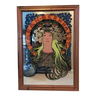 Alphonse Mucha 'Sarah Bernhardt' Mirror