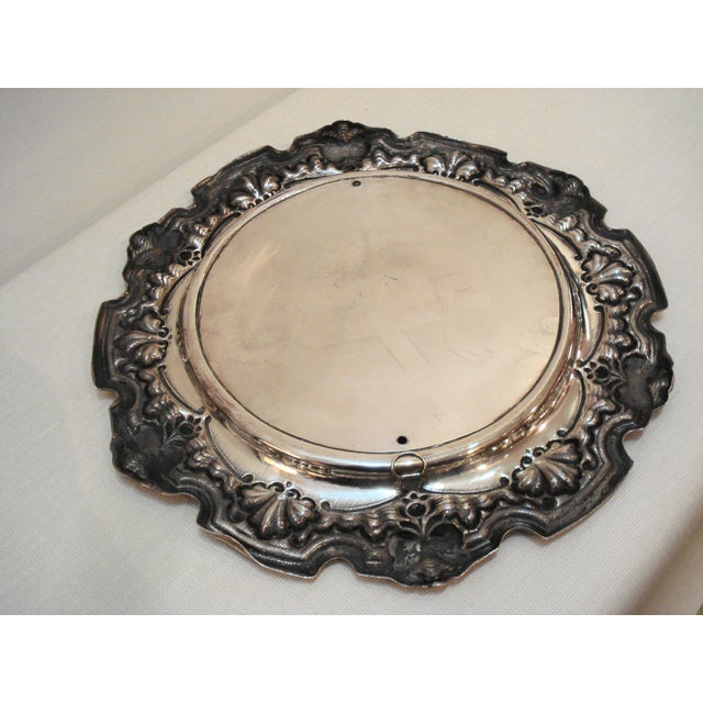 Large French Silver Wall Plate - Villager Feast - Image 5 of 8