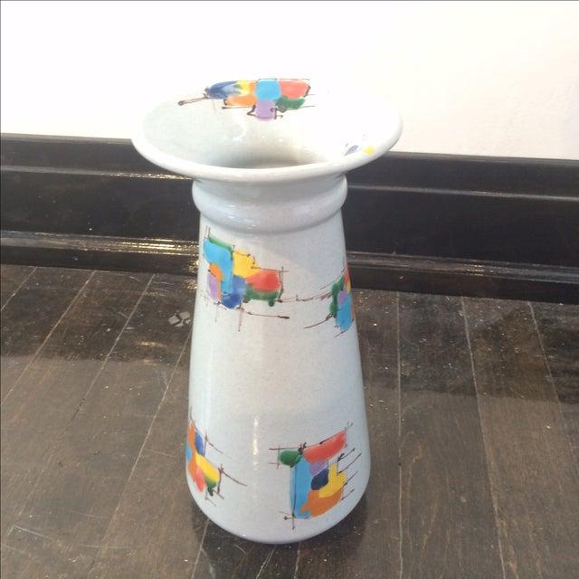 Deruta Italian Pottery Tall Vase - Image 8 of 8