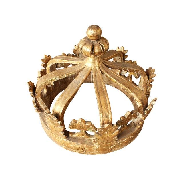 Image of Vintage European Gilt Gesso Crown
