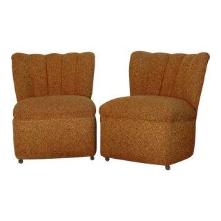 Kroehler Slipper Chairs - A Pair