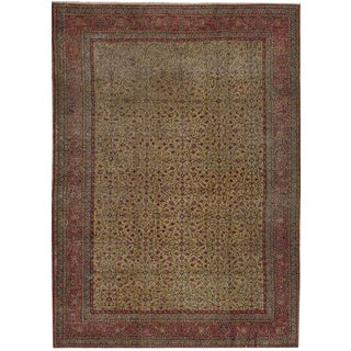 Red Wool Turkish Rug - 5′ × 7′4″