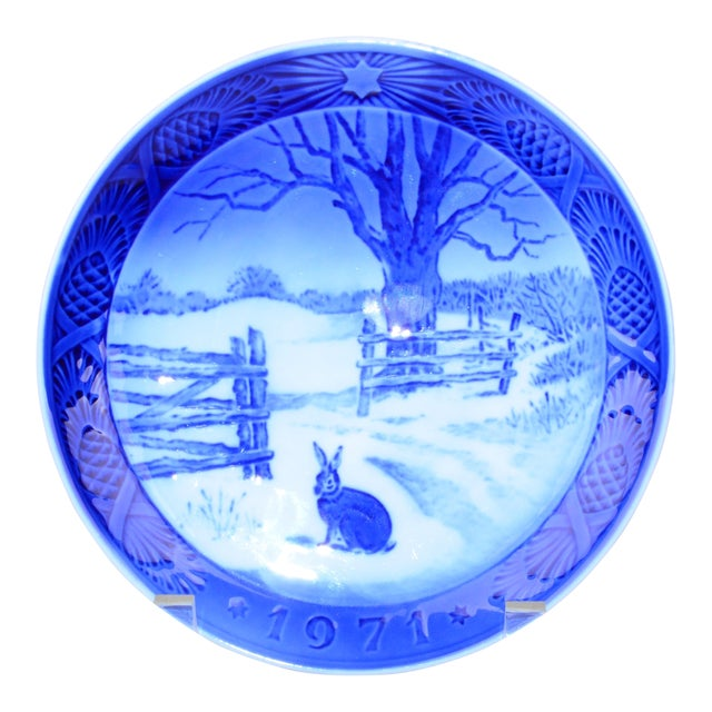 Image of Royal Copenhagen Christmas Plate, 1971
