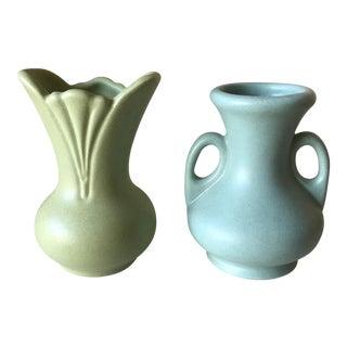 Petite Ceramic Vases - A Pair