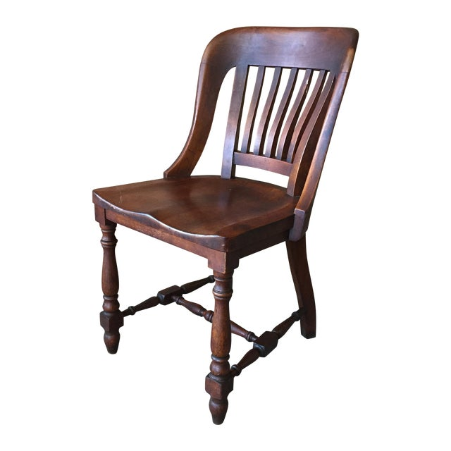 Antique Walnut Bankers Lawyers Office Chair - Image 1 of 10