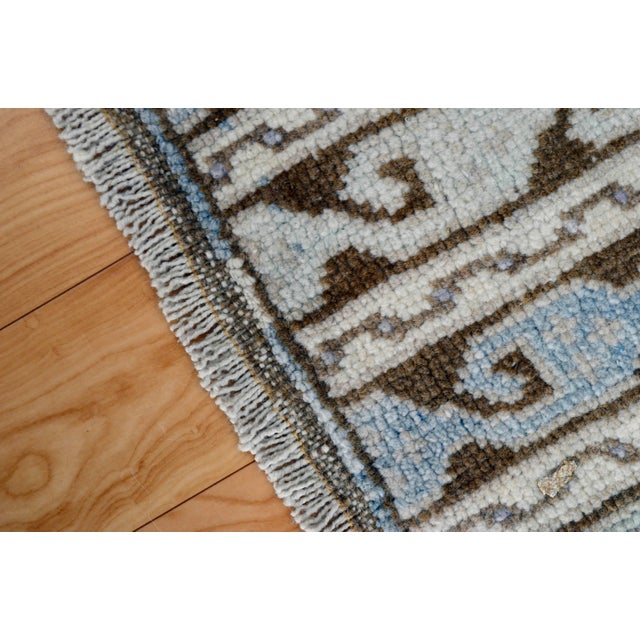 Turkish Hand-Knotted Oushak Runner Rug - 3' X 7' - Image 8 of 9