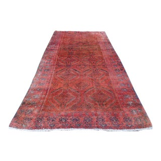 "Antique Persian Lilihan Rug- 3'5"" x 6'5"""