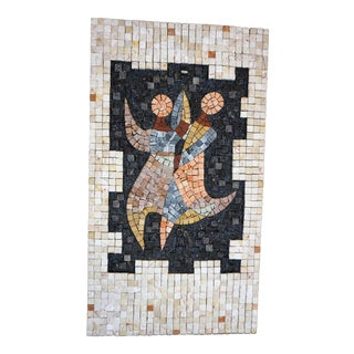 Handcrafted Mosaic of Dancers Collage
