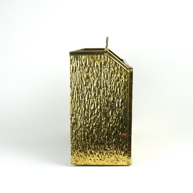 Image of Vintage Brass Magazine Caddy/Stand