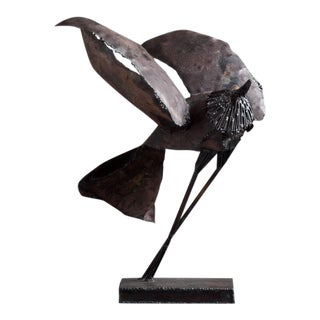 A Brutalist Abstract Bird Table Sculpture attributed to Curtis Jere Late 1960s