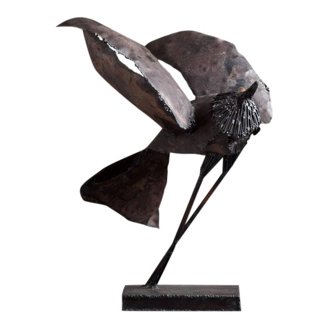 Image of A Brutalist Abstract Bird Table Sculpture attributed to Curtis Jere Late 1960s