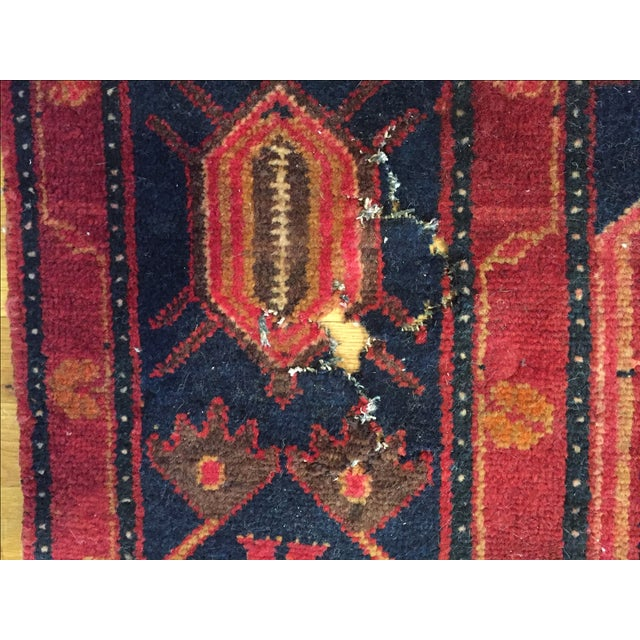 """Vintage Hand Knotted Turkish Rug - 4'11"""" x 8'11"""" - Image 8 of 10"""
