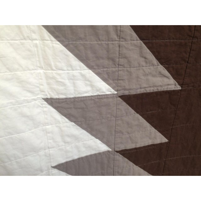 Boho Chic Neutral Brown & Gray Quilt - Image 4 of 5