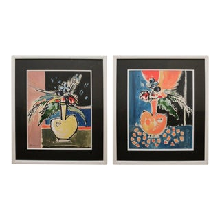 Watercolor Paintings in the Manner of Matisse - a Pair