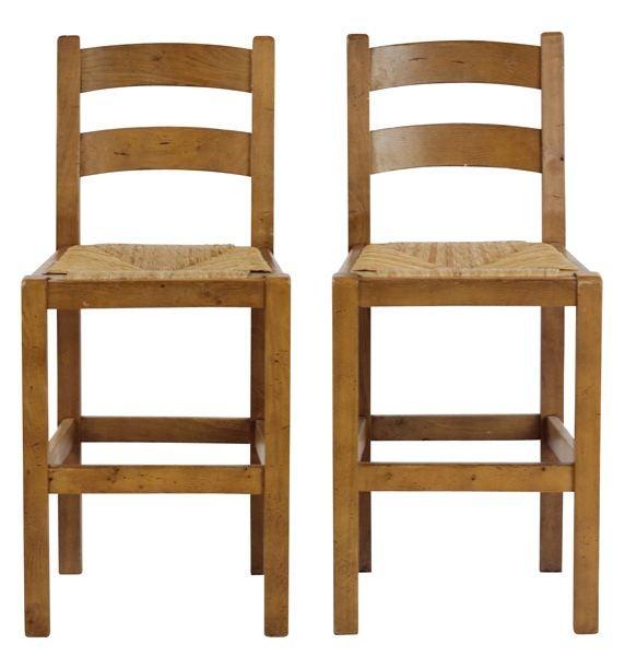 Rush Seat Counter Height Chairs Chairish