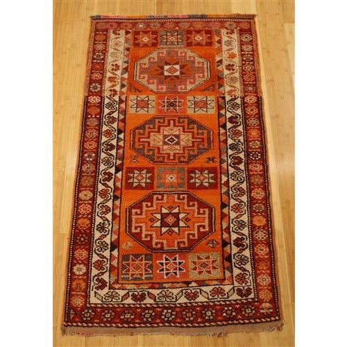 Image of Herki Tribal Rug No. 5 - 3' x 5'4''