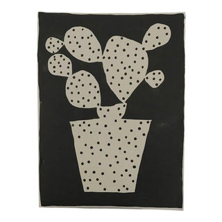 "Kate Roebuck ""Potted Polkadot Two"" Sumi Ink Painting"