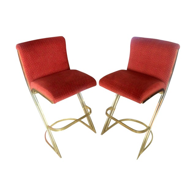 Michael Herold Design Vintage Bar Stools - A Pair - Image 1 of 5