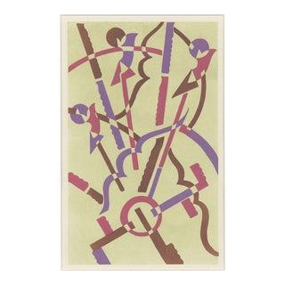 """Serge Gladky Art Deco """"Composition No. 32"""" Pochoir"""