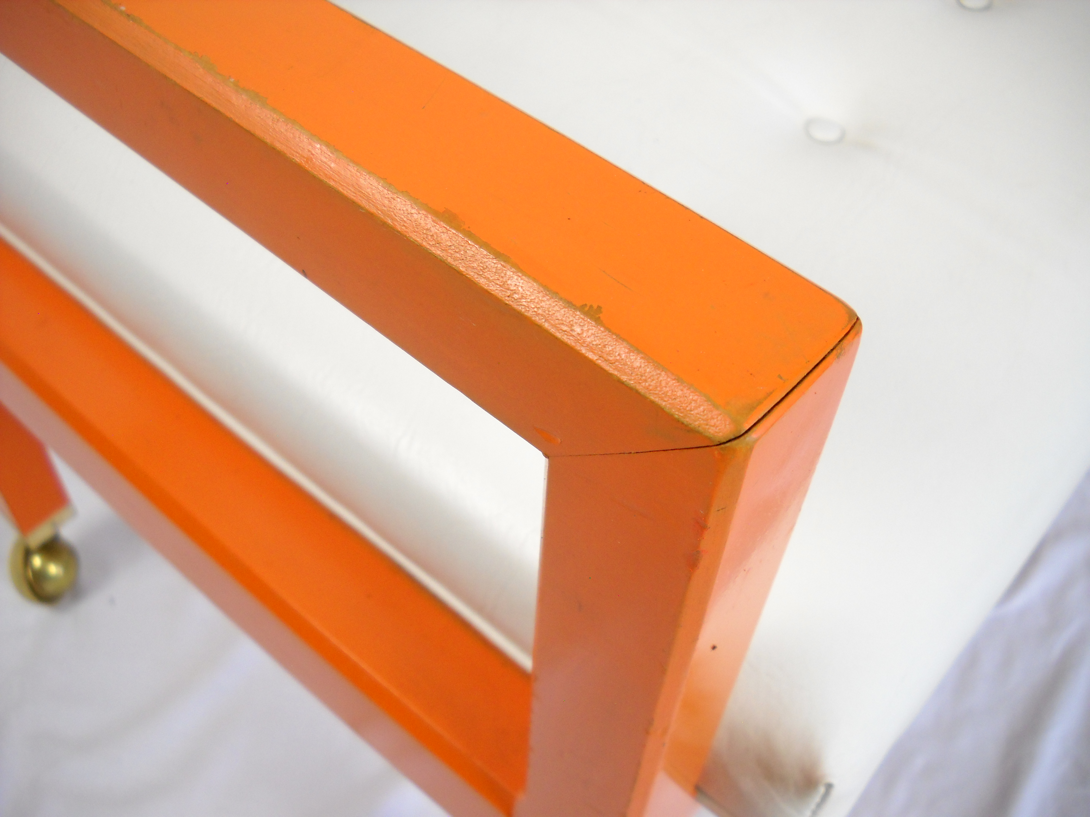 Orange Cube Chairs On Casters A Pair Chairish