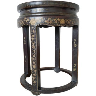 Round Chinoserie Side Table