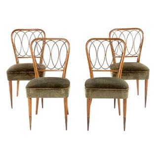 Italian Gio Ponti Style Dining Chairs - Set of 4