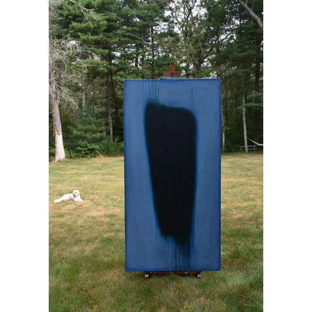 'Blue Torso' Abstract Painting - Image 8 of 11
