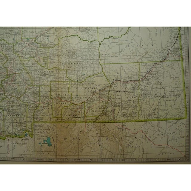 Image of Antique Map of Montana C. 1902