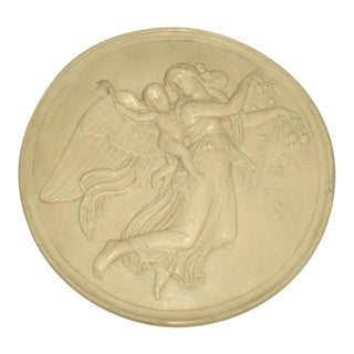 19th Century Signed Italian Plaster Medallion