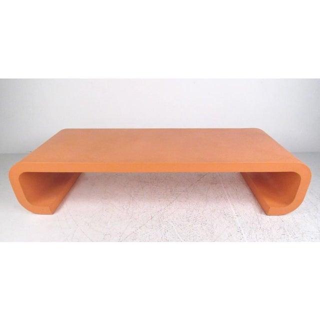 Vintage Modern Karl Springer Style Coffee Table - Image 2 of 10