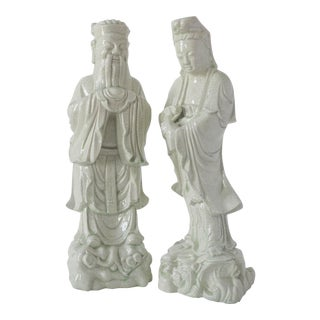 Chinese Celadon Statues - Pair