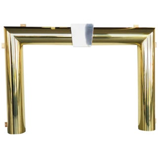 Danny Alessandro Brass and Stainless Steel Fireplace Surround