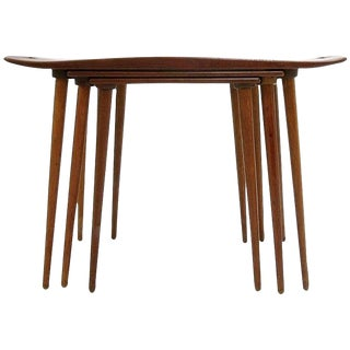 Set of Three Jens Quistgaard Danish Teak Nesting Tables or Stands