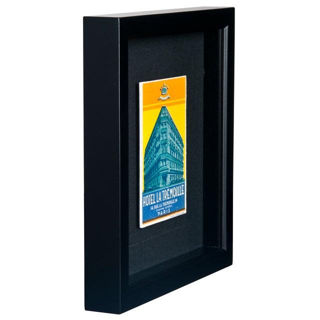 Framed French La Tremoille Hotel Luggage Label - Image 2 of 2