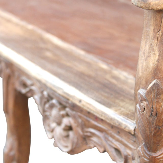 Carved Anglo India Settee - Image 4 of 5