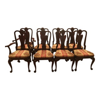 Kittinger Queen Anne Dining Chairs - Set of 8