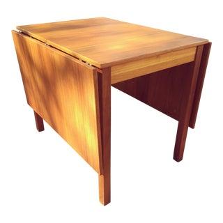 Danish Modern Teak Wood Drop Leaf Table