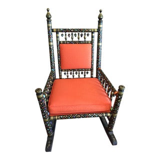 Orange Punjabi Rocking Chair