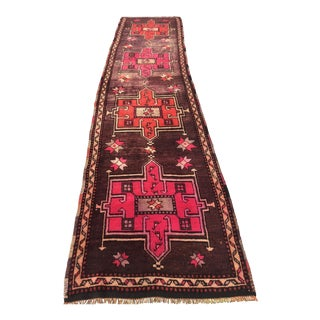 "Antique Turkish Anatolian Runner Rug - 3'1"" x 13'4"""