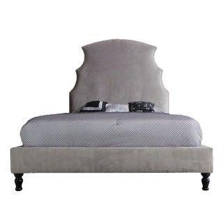 Grey Demi Contemporary Queen Bed Frame