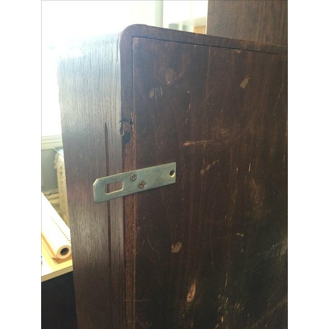 Image of Vintage Belgian Hanging Wooden Shelf