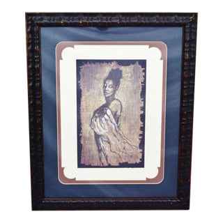 "Contemporary ""Woman"" Framed & Matted Print"