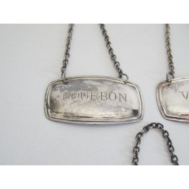 Silverplated Liquor Labels - Set of 5 - Image 5 of 9