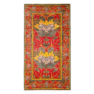 """Arts & Crafts Hand Knotted Area Rug - 2'10"""" X 5'2"""""""