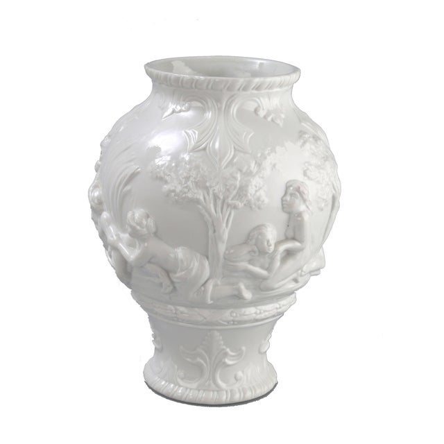 White Capodimonte Italian Porcelain Urn - Image 3 of 10