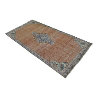 "Turkish Brown Overdyed Hand Knotted Rug - 3'4"" X 6'7"""