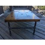 Image of Industrial Wood & Metal Coffee Table